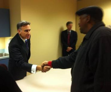 Executive Constantine meets Charles Jackson, who is newly eligible for health insurance.